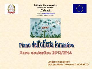 """Istituto  Comprensivo  """"Isabella Morra"""" Valsinni   tel. e Fax 0835-818120  E-mail:  mtic80400n@istruzione.it  Sito web:"""
