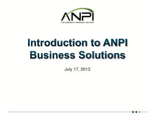 Introduction to ANPI Business Solutions