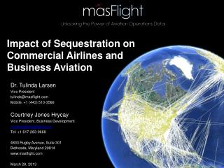 Impact of Sequestration on Commercial Airlines and  Business  Aviation