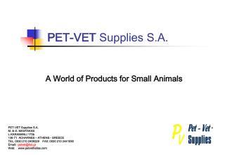 PET-VET Supplies S.A.