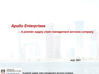 Apollo Enterprises – A premier supply chain management services company