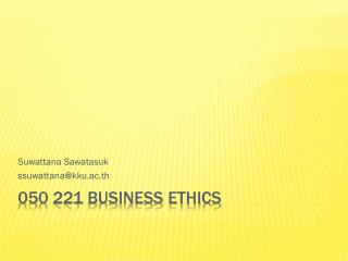 050 221 Business Ethics