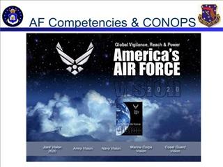 AF Competencies  CONOPS