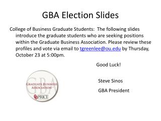 GBA Election Slides