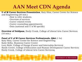 AAN Meet CDN Agenda