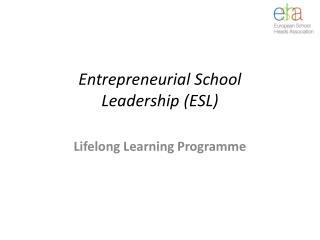 Entrepreneurial School Leadership (ESL)
