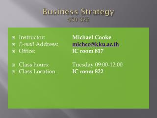 Business Strategy 050 322