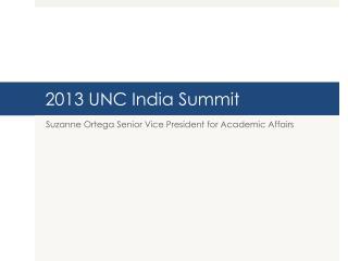 2013 UNC India Summit