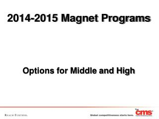 2014-2015 Magnet Programs