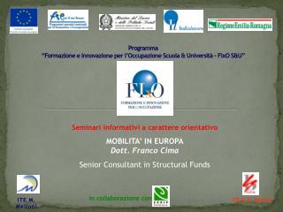 """Programma """"Formazione e Innovazione per l'Occupazione Scuola & Università - FIxO S&U"""""""