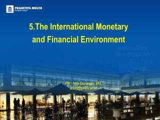 5.The  International Monetary  and  Financial Environment