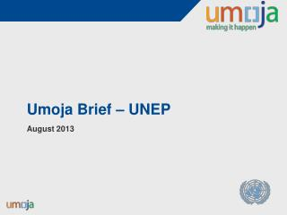 Umoja  Brief – UNEP