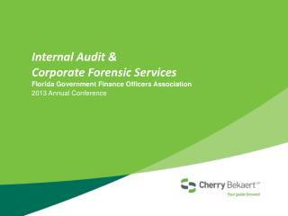 Internal Audit  & Corporate Forensic  Services