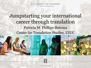 Jumpstarting your international career through translation