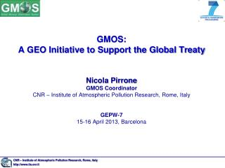 CNR – Institute of Atmospheric Pollution Research, Rome, Italy http://www.iia.cnr.it