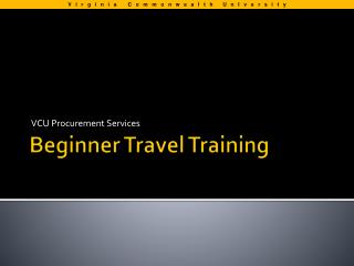 Beginner Travel Training