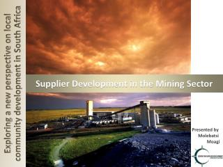 Supplier Development in the Mining  Sector