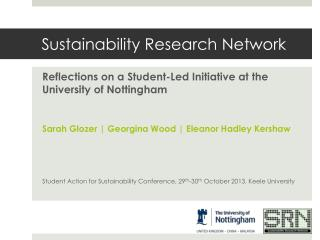 Sustainability Research Network
