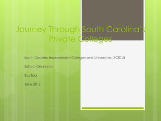 Journey Through South Carolina's Private Colleges