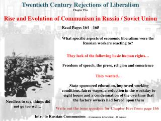 Rise and Evolution of Communism in Russia / Soviet Union