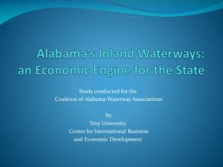 Alabama's Inland Waterways: an Economic Engine for the State