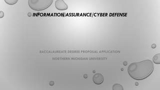 Information Assurance/Cyber  Defense