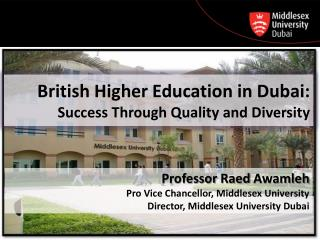 British Higher Education in Dubai:  Success Through Quality and Diversity