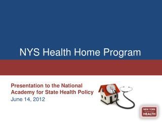 NYS Health Home Program