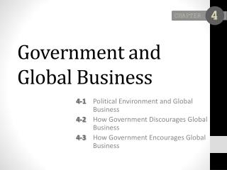 Government and Global Business