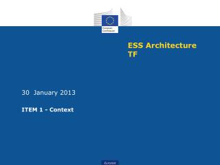 ESS Architecture TF