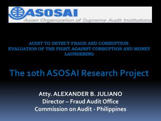 AUDIT TO DETECT FRAUD AND CORRUPTION: EVALUATION OF THE FIGHT AGAINST CORRUPTION AND MONEY LAUNDERING