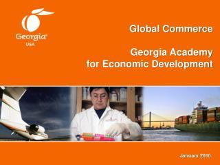 Global Commerce Georgia Academy  for Economic Development