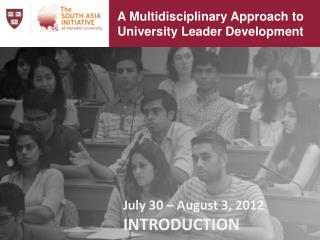 A Multidisciplinary Approach to University Leader Development