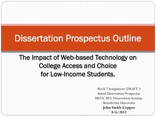 Dissertation Prospectus Outline