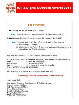 ICT  & Digital Outreach Awards  2014