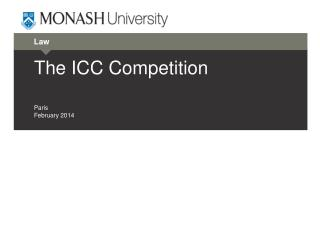 The ICC Competition