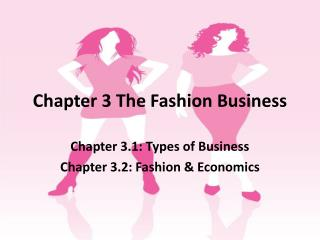 Chapter 3 The Fashion Business