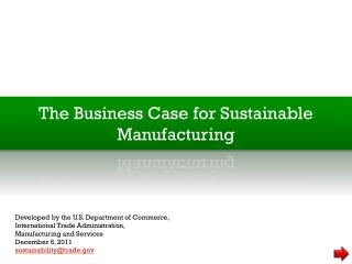 The Business Case for Sustainable Manufacturing
