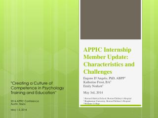 APPIC  Internship  Member Update: Characteristics and Challenges