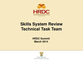 Skills System Review  Technical Task Team