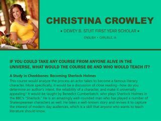 CHRISTINA CROWLEY