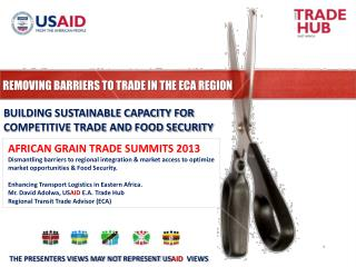 REMOVING BARRIERS TO TRADE IN THE ECA REGION