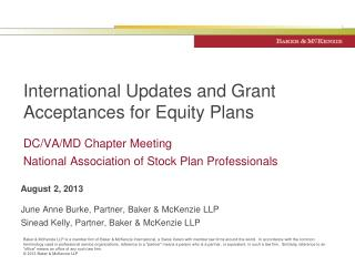 International Updates and Grant Acceptances for Equity Plans