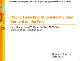 DSpin: Detecting Automatically Spun Content on the Web