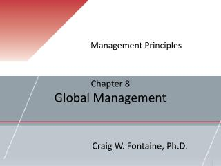 Chapter 8 Global Management