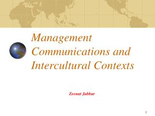 Management Communications and Intercultural Contexts