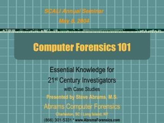 Computer Forensics 101