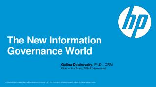 The New Information Governance World