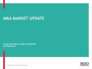 M&A market update