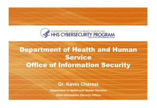 Department of Health and Human Service  Office of Information Security